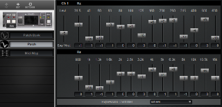 Click to display the Rane MPE-28 Patch Editor