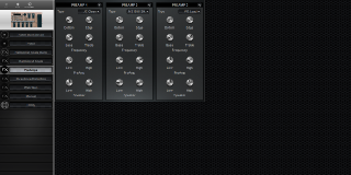 Click to display the Roland BOSS GT-6 PreAmps Editor