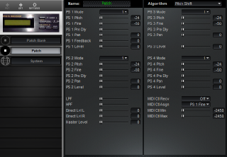 Click to display the Roland BOSS SE-50 Patch Editor