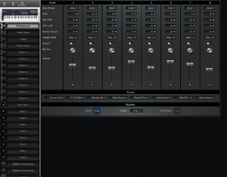 Click to display the Roland D-10 Performance Editor