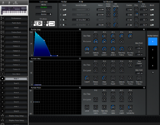 Click to display the Roland D-10 Tone 1 Editor