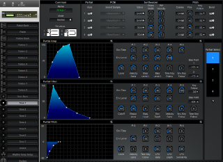 Click to display the Roland D-110 Tone 1 Editor