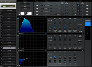 Click to display the Roland D-110 Tone 3 Editor