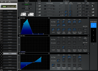 Click to display the Roland D-110 Tone 4 Editor