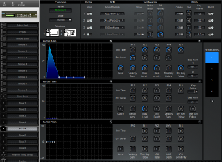 Click to display the Roland D-110 Tone 5 Editor