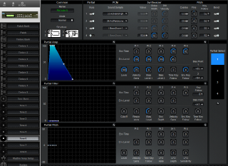 Click to display the Roland D-110 Tone 6 Editor
