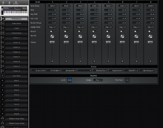 Click to display the Roland D-20 Performance Editor
