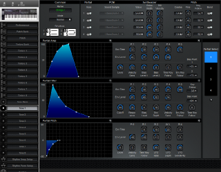 Click to display the Roland D-20 Tone 1 Editor