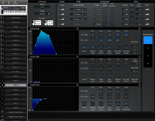 Click to display the Roland D-20 Tone 3 Editor