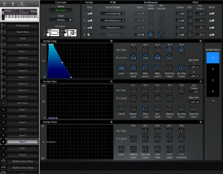 Click to display the Roland D-20 Tone 6 Editor