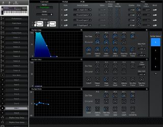 Click to display the Roland D-20 Tone 7 Editor