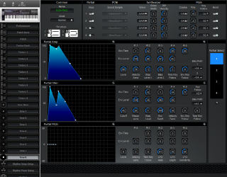Click to display the Roland D-20 Tone 8 Editor