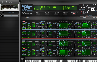 Click to display the Roland D-550 Patch - Basic Mode Editor