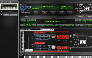 Click to display the Roland D-550 Patch - Lower Mode Editor