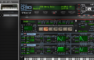 Click to display the Roland D-550 Patch - Upper Mode Editor