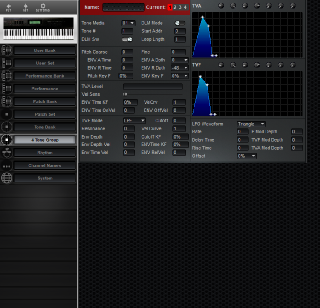 Click to display the Roland D-70 4 Tone Group Editor