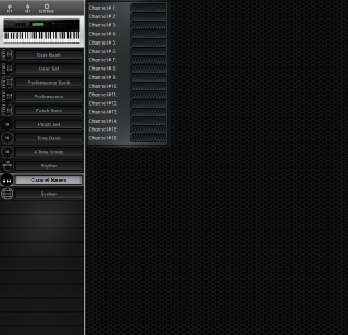 Click to display the Roland D-70 Channel Names Editor