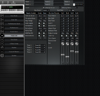 Click to display the Roland D-70 Patch Set Editor