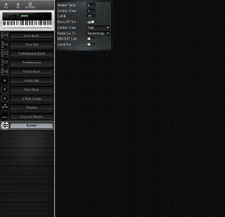 Click to display the Roland D-70 System Editor