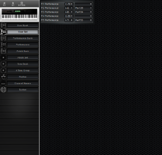 Click to display the Roland D-70 User Set Editor