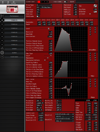Click to display the Roland D2 Patch (1) Editor