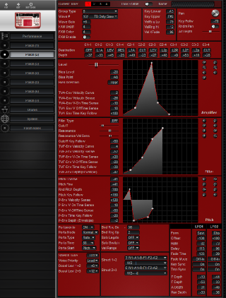 Click to display the Roland D2 Patch (2) Editor