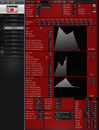 Click to display the Roland D2 Patch (3) Editor