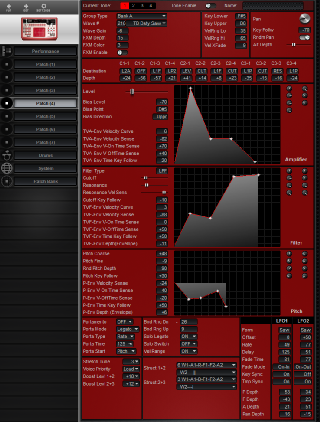 Click to display the Roland D2 Patch (4) Editor