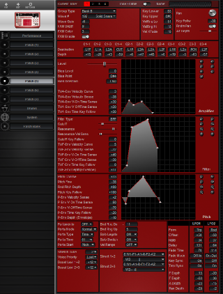 Click to display the Roland D2 Patch (5) Editor