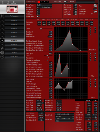 Click to display the Roland D2 Patch (6) Editor