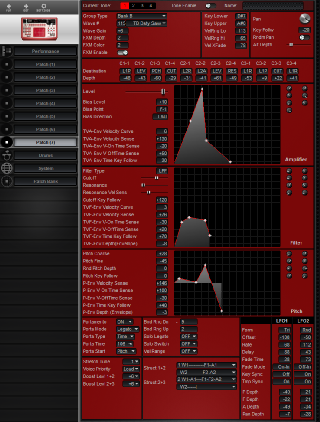 Click to display the Roland D2 Patch (7) Editor