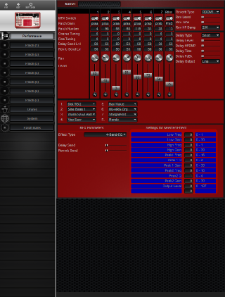 Click to display the Roland D2 Performance Editor