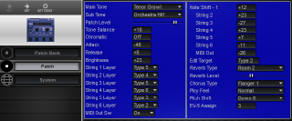 Click to display the Roland GR-09 Patch Editor