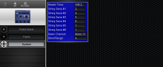 Click to display the Roland GR-09 System Editor