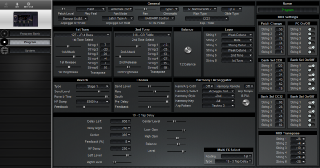 Click to display the Roland GR-33 Program Editor