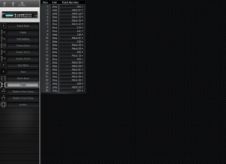 Click to display the Roland GR-50 Chain Editor