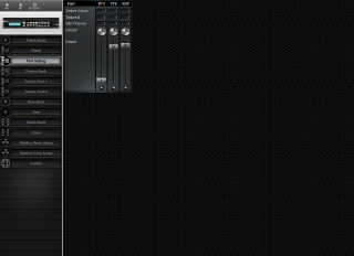 Click to display the Roland GR-50 Part Setting Editor