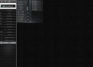 Click to display the Roland GR-50 System Editor