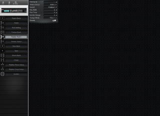 Click to display the Roland GR-50 Timbre Part 1 Editor