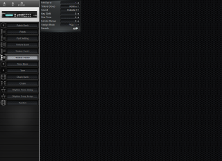 Click to display the Roland GR-50 Timbre Part 2 Editor