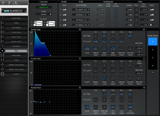 Click to display the Roland GR-50 Tone Editor