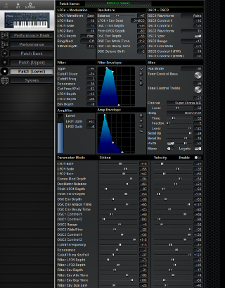 Click to display the Roland JP-8000 (Alt) Patch (Lower) Editor