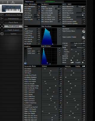 Click to display the Roland JP-8000 (Alt) Patch (Upper) Editor