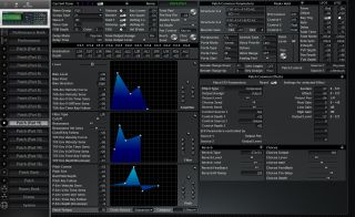 Click to display the Roland JV-2080 Patch (Part 11) Editor