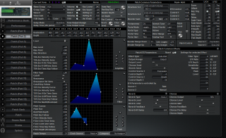 Click to display the Roland JV-2080 Patch (Part 2) Editor