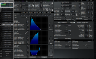 Click to display the Roland JV-2080 Patch (Part 6) Editor