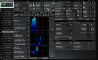 Click to display the Roland JV-2080 Patch (Part 9) Editor