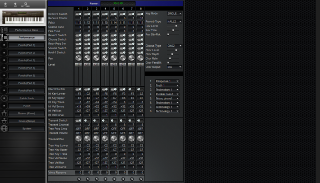 Click to display the Roland JV-80 Performance Editor