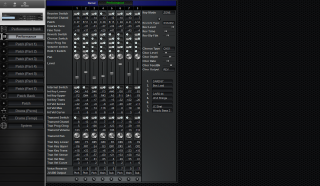 Click to display the Roland JV-880 Performance Editor