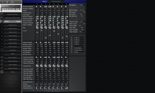 Click to display the Roland JV-90 Performance Editor